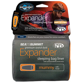 Sea to Summit Expander Liner Momia con Capucha, navy blue